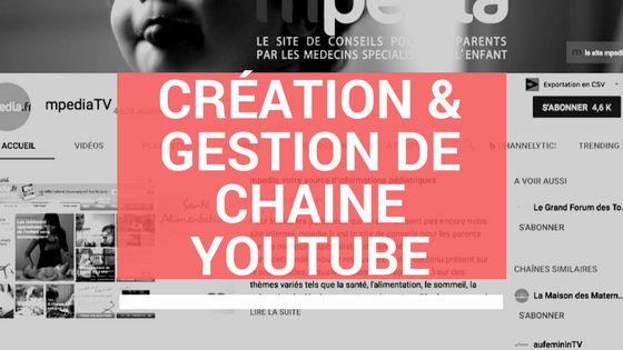 création de chaine youtube