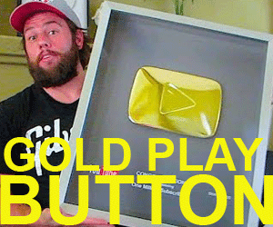 le Gold Play Button récompense les chaines youtube de plus de 100 000 abonnés