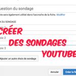 fiche de sondage youtube