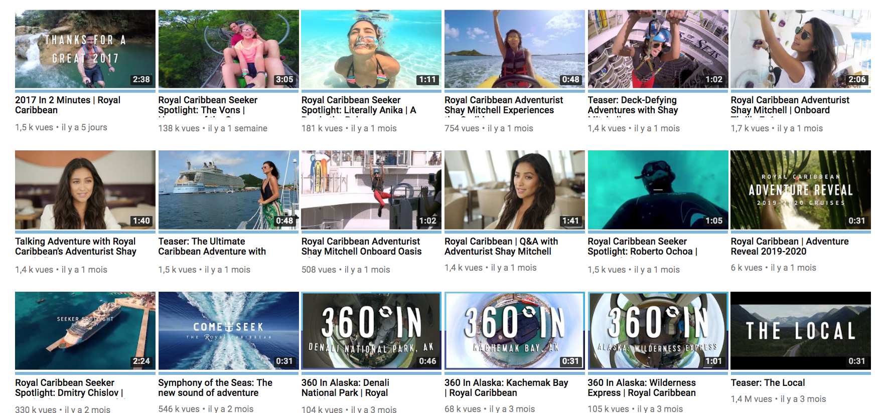 Branding Royal Caribbean YouTube