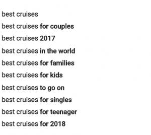 Recherche youtube croisière