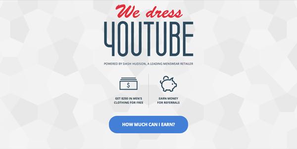 Dash Hudson habille gratuitement les youtubers