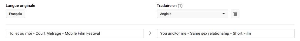 Traduction des titres sur youtube